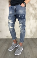 JEANS STRAPPATI GIANNI LUPO - DENIM RIPPED